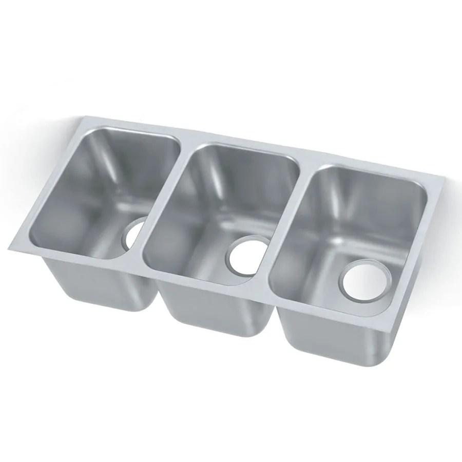 vollrath 12103 1 3 compartment undermount sink 14 x 12