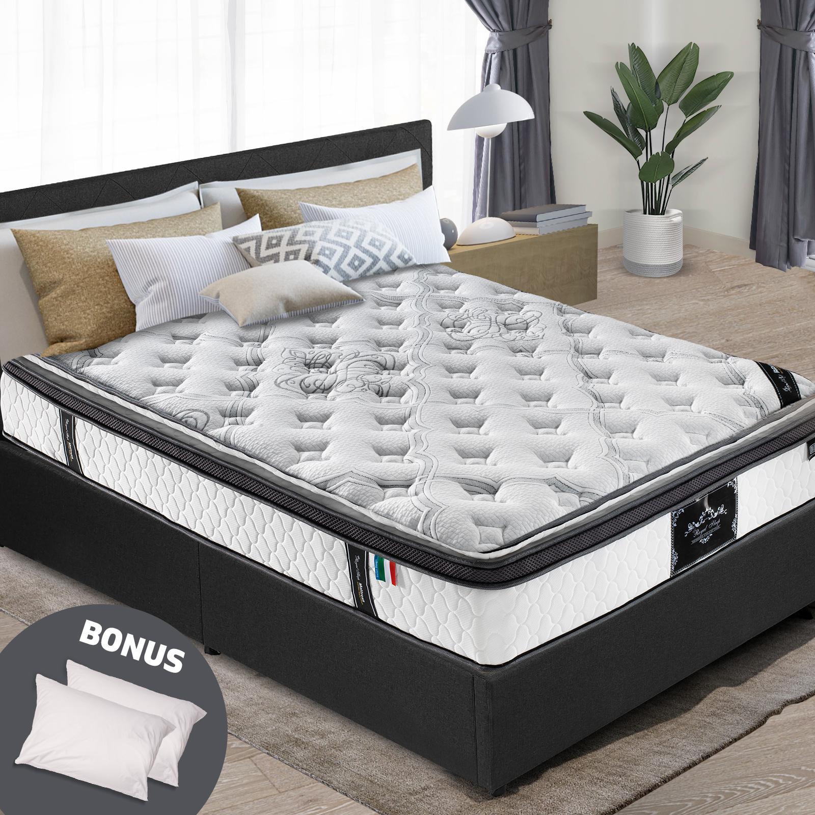 king mattress euro and pillow top 9 zone pocket spring latex memory foam 34cm
