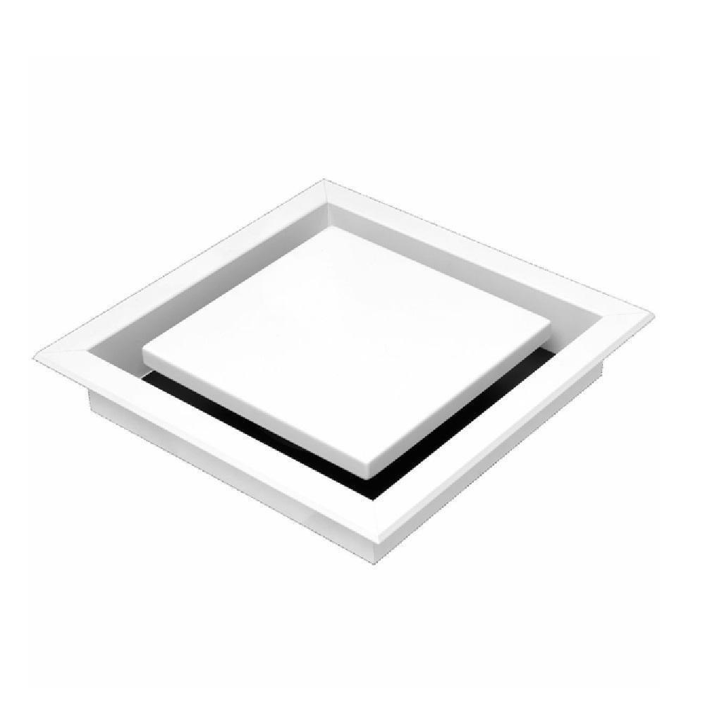 schweigen silent multi purpose exhaust fan square recessed white diffuser brw600