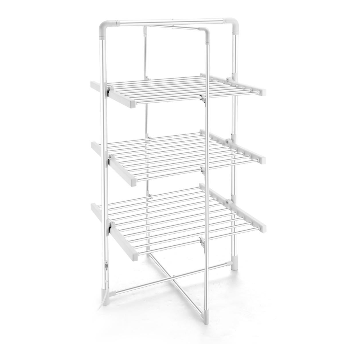 300w 3 tier heated electric clothes towel drying rack foldable