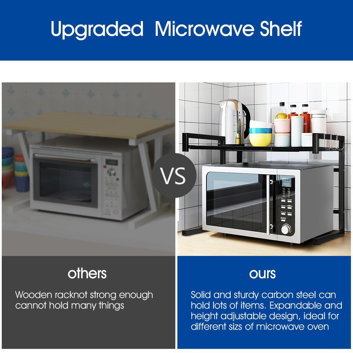 kitchen shelf microwave oven rack stand organizer for utensil tableware condiment