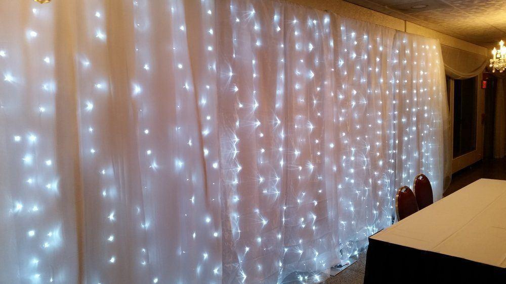 200 led curtain lights indoor outdoor warm white
