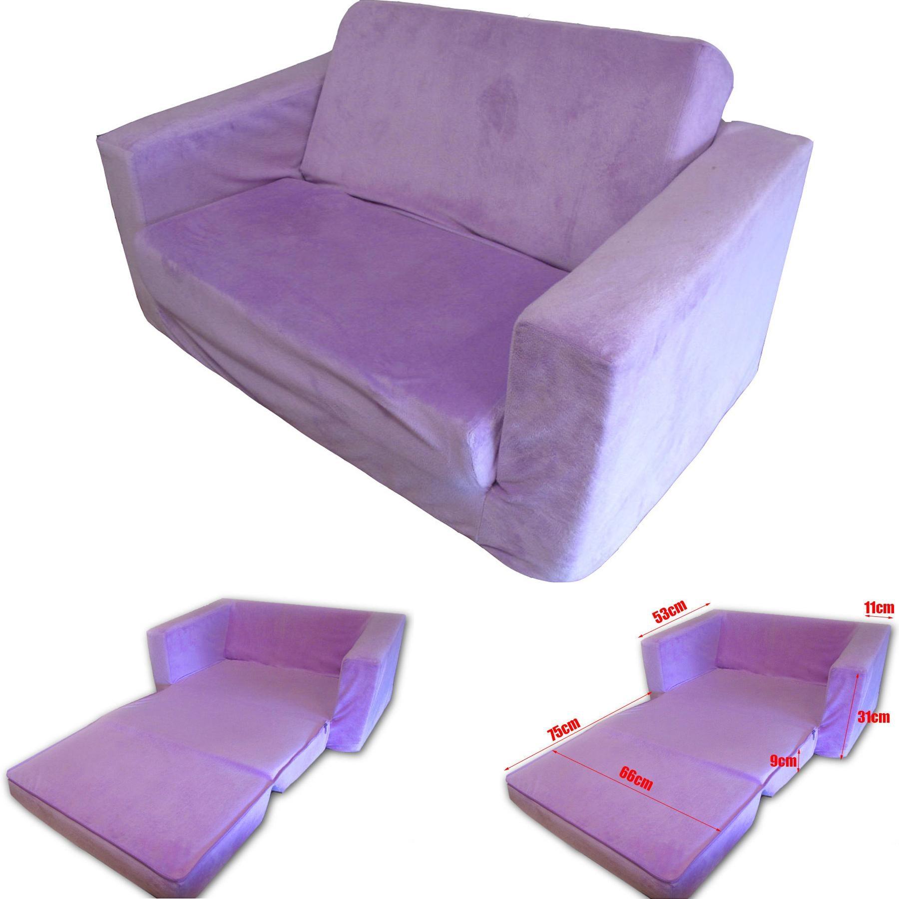 flip out kids sofa purple