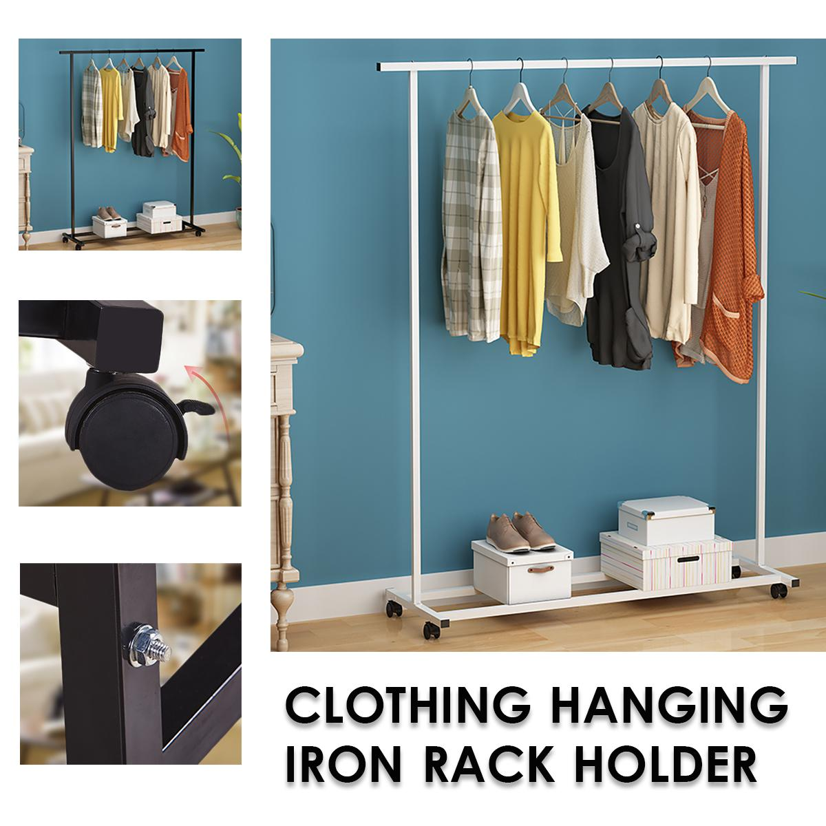 clothes garment rack metal coat rack shelf storage holder shoes storage shelf holder hanger 100 x 40 x 130 cm bedroom home shelf organizer white