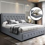 Artiss Queen Size Gas Lift Bed Frame Base With Storage Mattress Fabric Matt Blatt