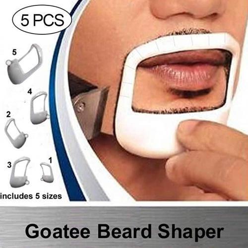 Dexing Goatee Outliner Kit Goatee Beard Shaper Beard Shaping Tool Fashion Goatee Shaving Template Goatee Trimming Supplies For Men 5 Sizes Set Matt Blatt