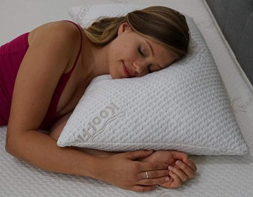 standard snuggle pedic supreme plush ultra luxury hypoallergenic bamboo shredded gel infused memory foam pillow combination with adjustable fit