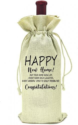 Housewarming Gifts First New Home House Homeowner Gifts For Men Women Mom Dad Daughter Son Friends Coworkers Sweet Home Happy New Home Congratulations Wine Bag Matt Blatt
