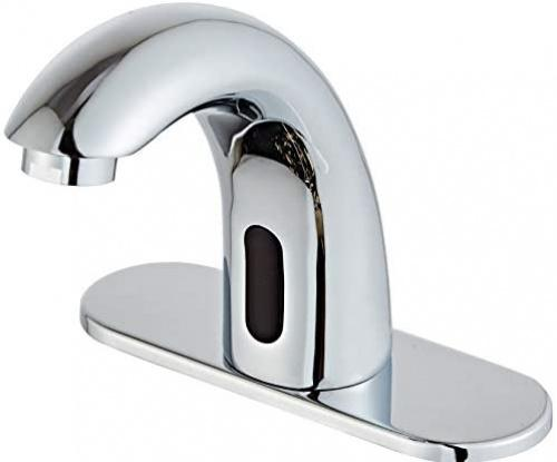 luxice automatic faucet bathroom sink faucet with hole cover plate sensor touchless faucets hands free bathroom water tap with control box and