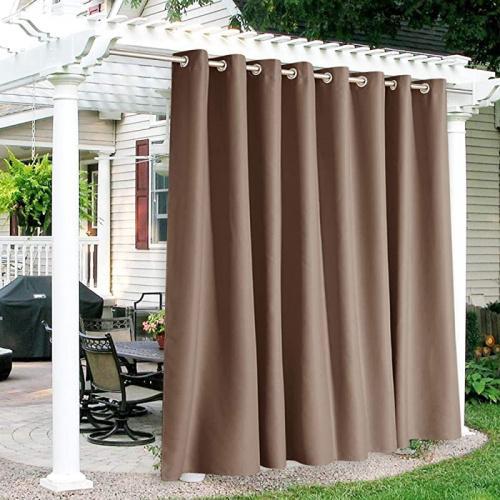 300cm x 240cm mocha ryb home outdoor curtains waterproof sun blocking curtains heavy duty grommet shades for garage patio door window porch
