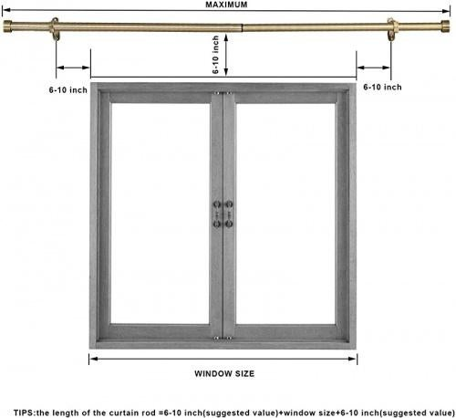 41cm 70cm antique bronze mayrhyme curtain rods for windows16 70cm 2 5cm diameter curtain rod adjustable window curtain rod with premium