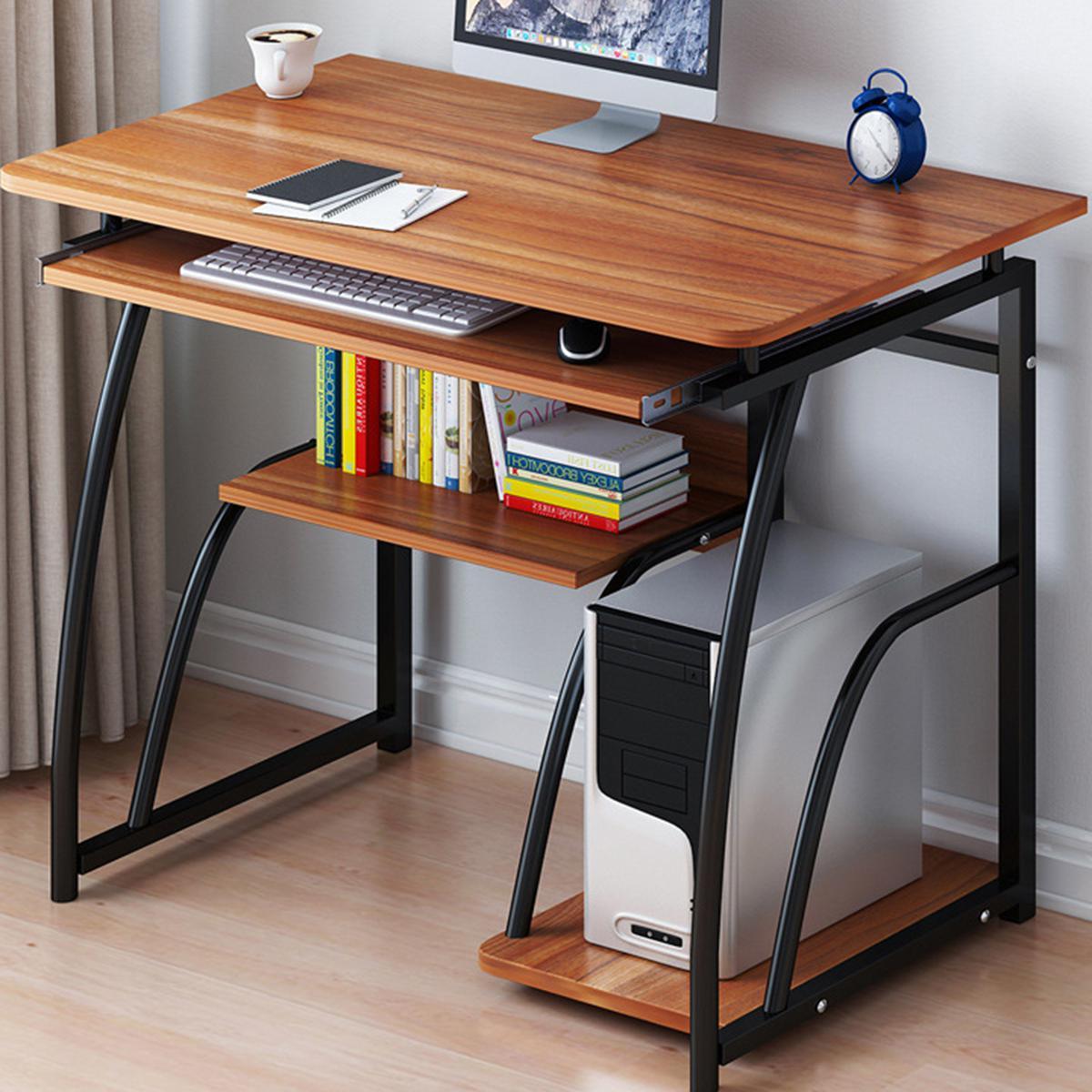 new computer desk study coffee table wooden laptop office home bookshelf diy