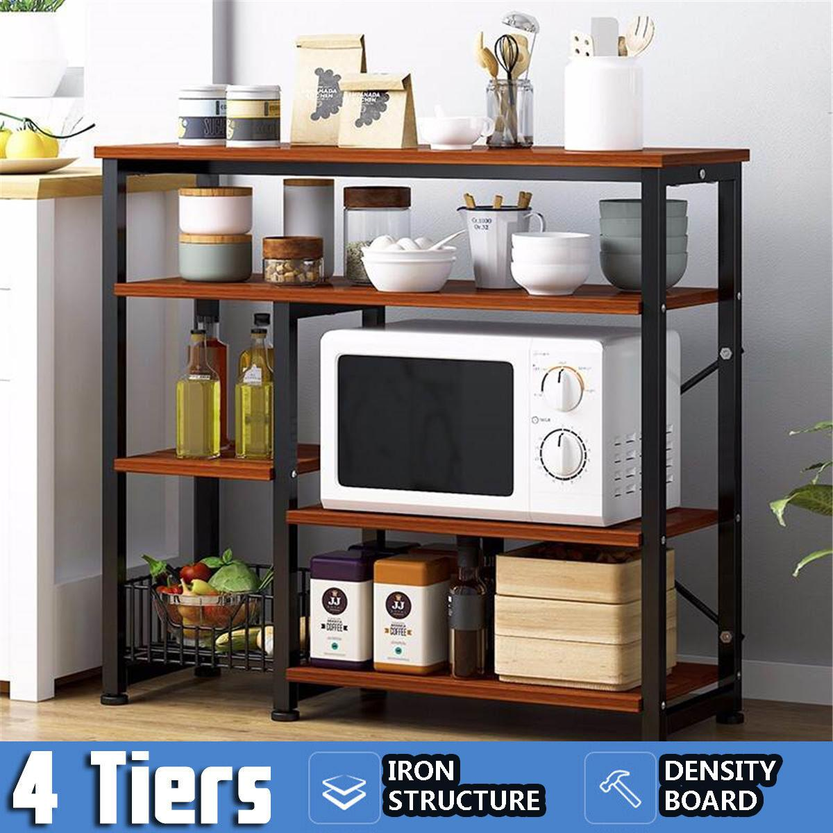 multi layer storage shelves microwave oven rack kitchen household stand holder