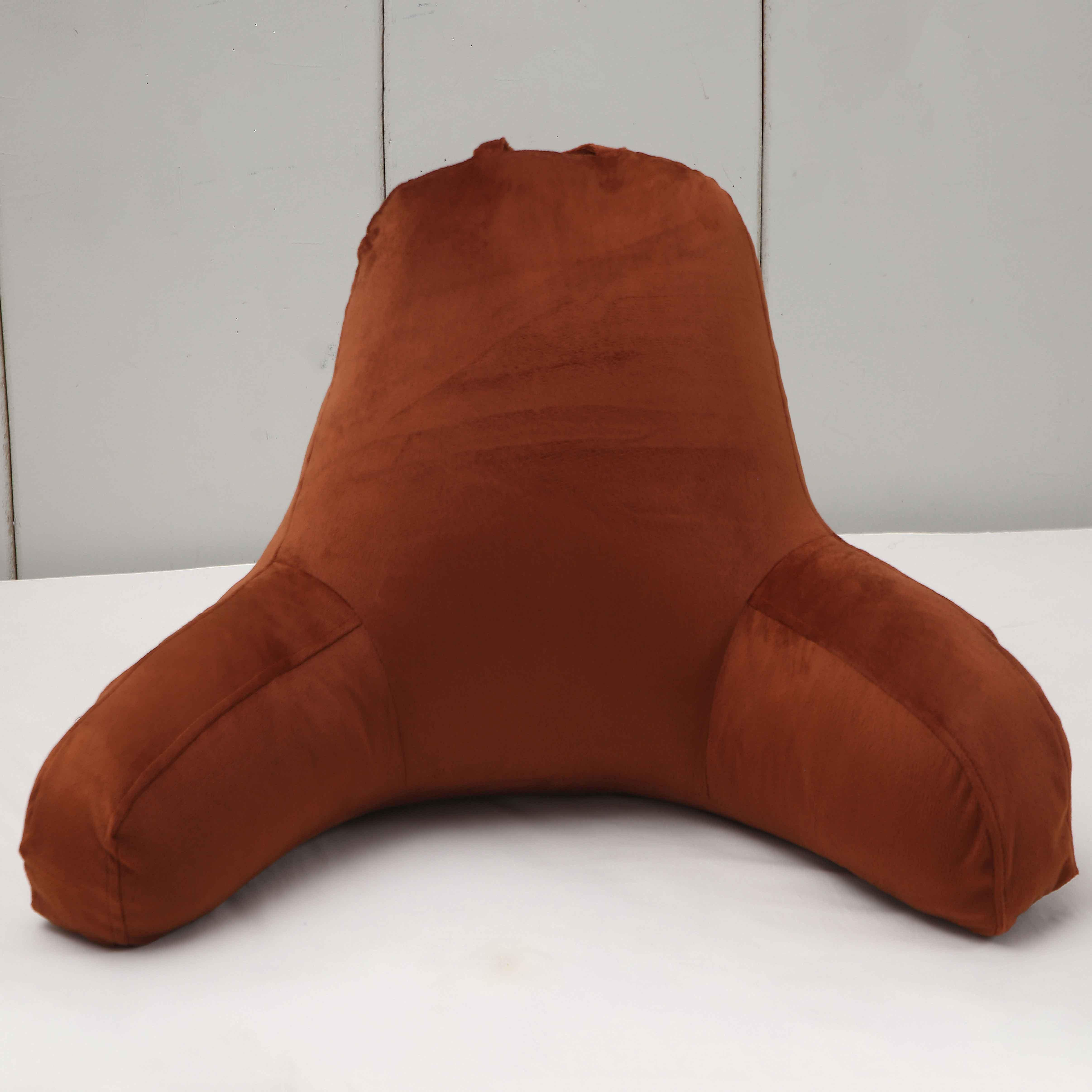 bed rest pillow backrest back arm support relax plush cushion reading lounger coffee 25 6x 18 1 x 9 8 inches pillows