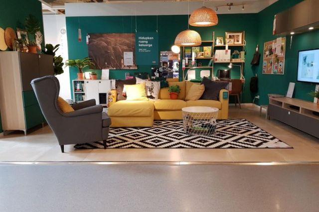 Desain ruang keluarga di IKEA, Alam Sutera, Tangerang