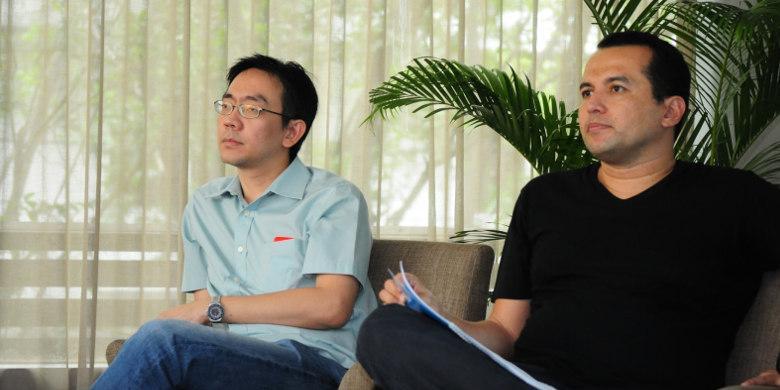Daniel Armanto (kiri) CTO dan co-founder Adskom bersama Italo Gani (kanan) CEO dan co-founder Adskom