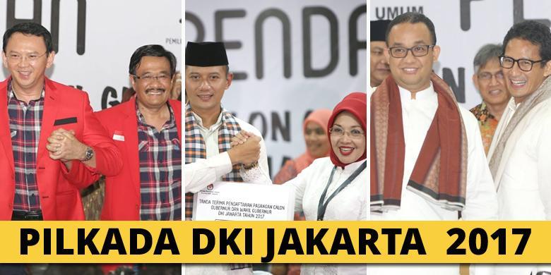 Image result for pasangan calon gubernur dki jakarta 2017