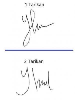 Perbedaan tanda tangan 1 tarikan & 2 tarikan nafas