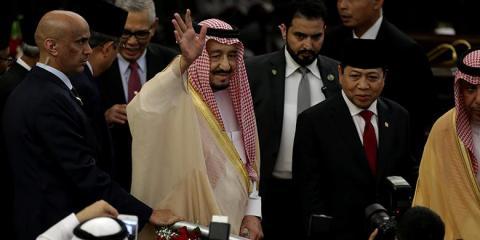 Raja Salman didampingi Ketua DPR Setya Novanto