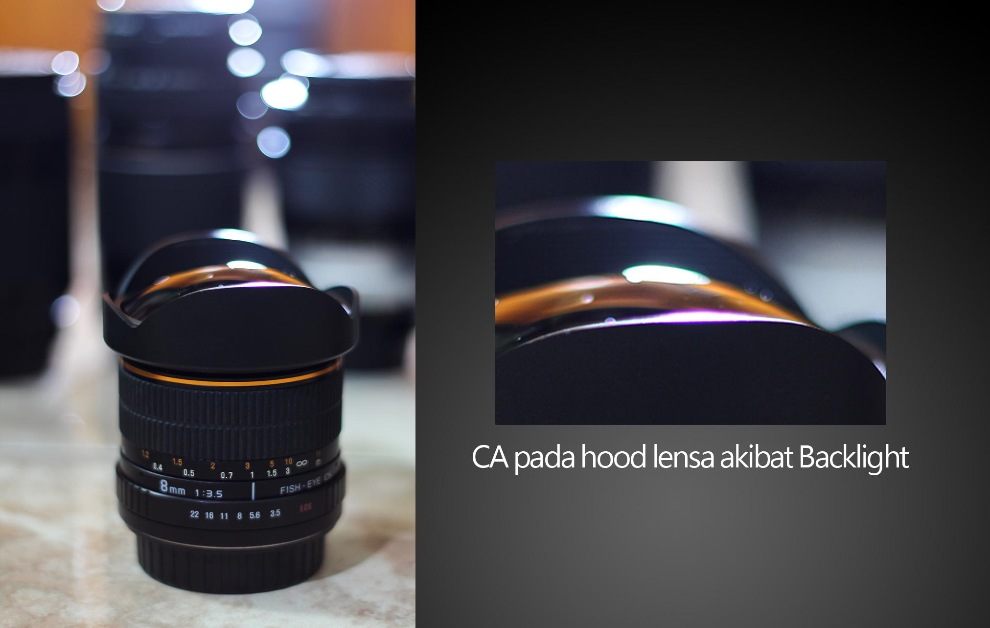 CA pada Hood Lens