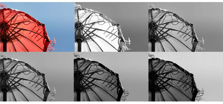 Contoh penerapan filter warna
