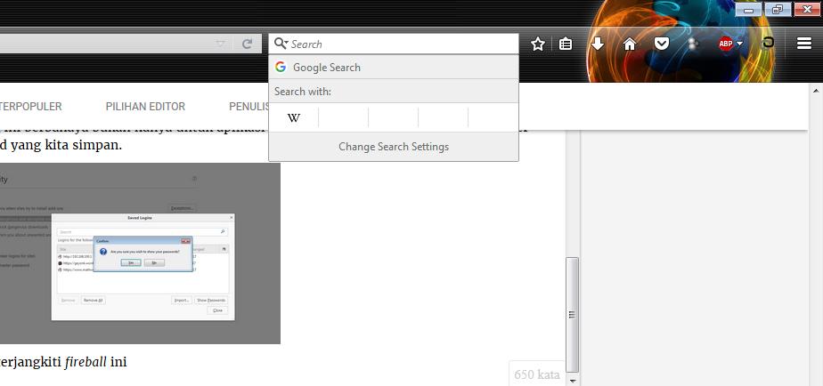 Search engine tetap seperti yang kita pakai semula