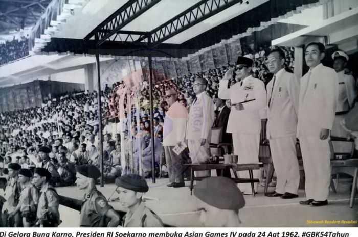 Pembukaan Asian Games 1962, Jakarta (Foto: intisari.grid.id)