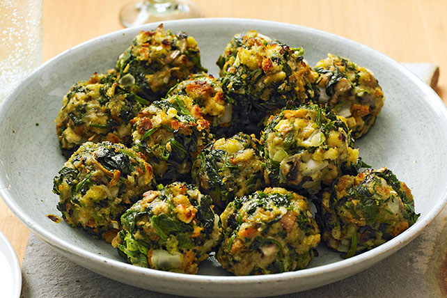 STOVE TOP Spinach Balls Recipe   Kraft Canada STOVE TOP Spinach Balls