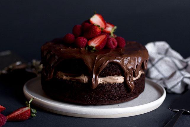 Glazed Sour Cream Chocolate Cake Kraft Recipes