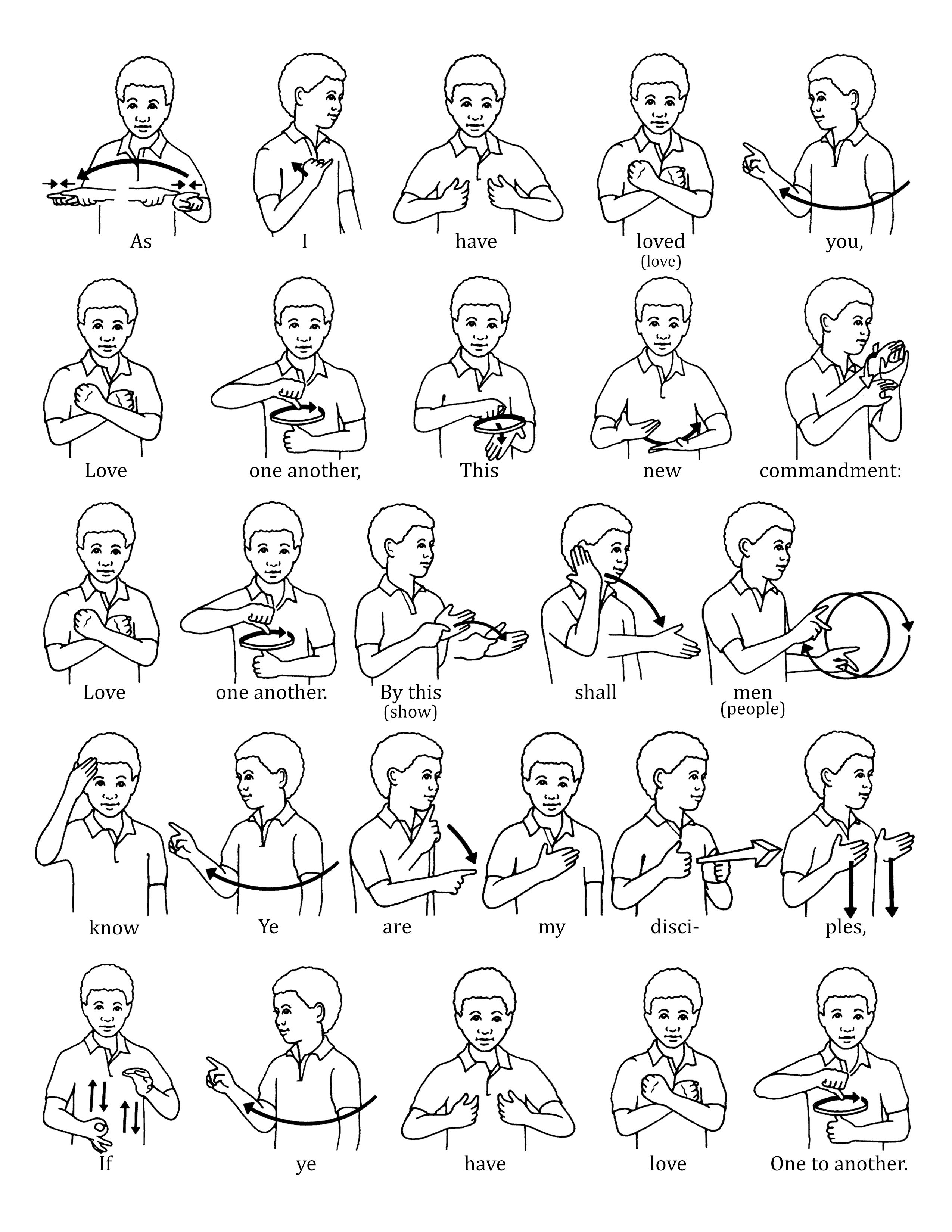 Sign Language For Love One Another