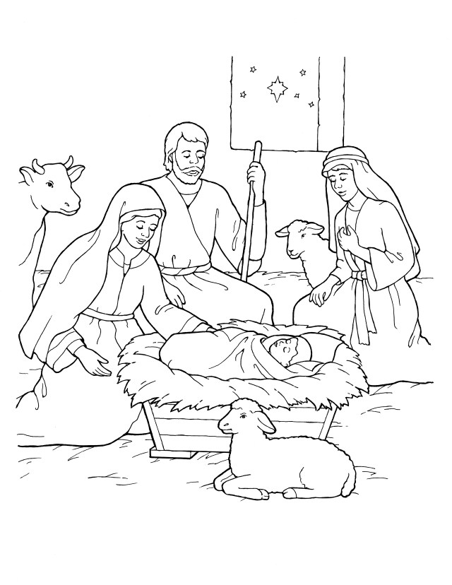 Nativity: Mary, Joseph, Jesus, and the Shepherds
