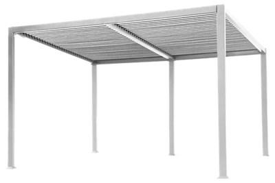 Pergola Completa De Aluminio Londres Blanco 3x4 M Leroy Merlin