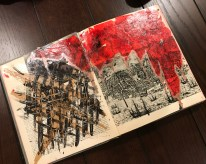 Some of her altered book