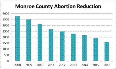 Abortion rate Monroe County