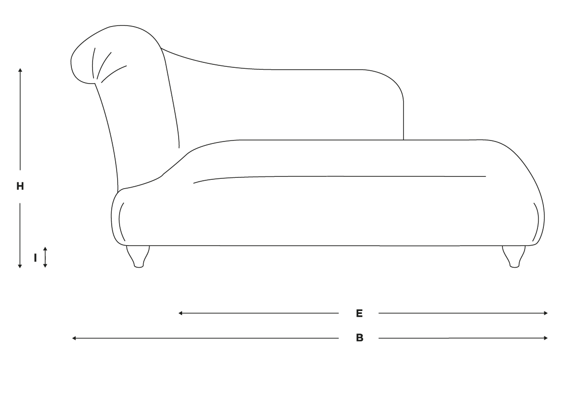 right hand bronte chaise longue in thatch house fabric