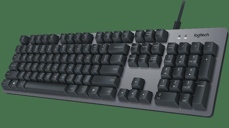 Logitech K840 Aluminum Mechancial Keyboard With Media