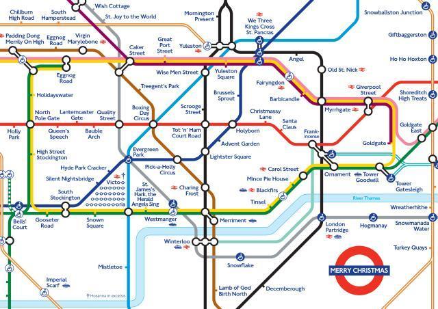 Alternative Tube Maps Merry Christmas Londonist