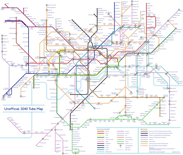 With Tfls Network Aggressively Expanding The Tube Map Is Going To Change With It So Redditor U Not_quite_vertical Has Helpfully Made A Tube Map Showing