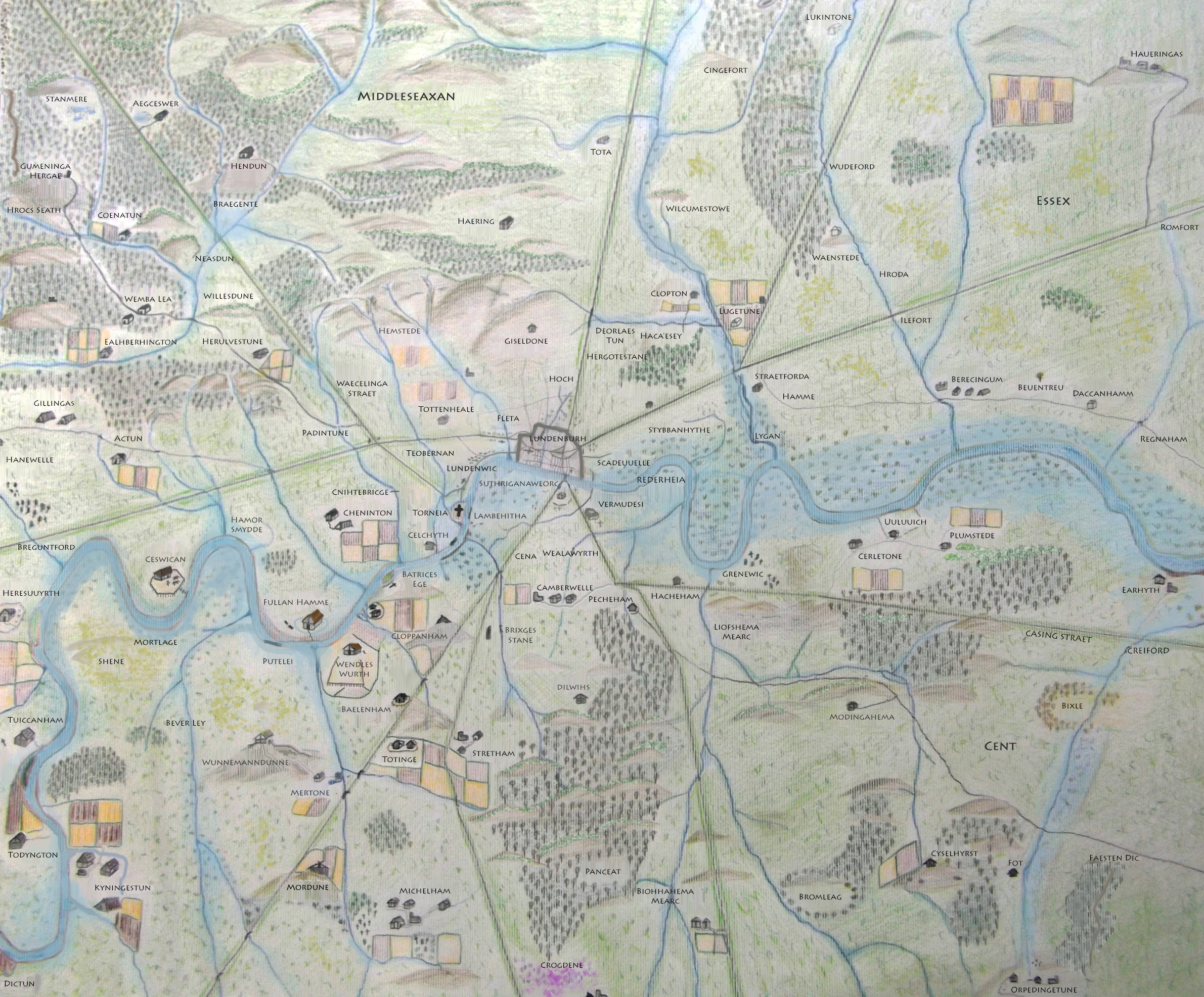 Anglo Saxon London Map  Updated   Londonist Higher resolution map here