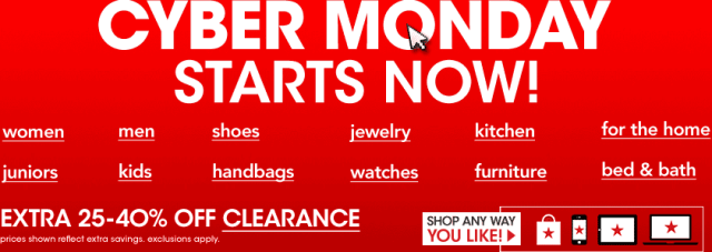 CYBER MONDAY STARTS NOW! Shop any way you like!