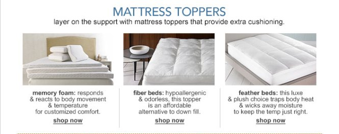 Layer On The Support With Mattress Toppers That Provide Extra Cushioning