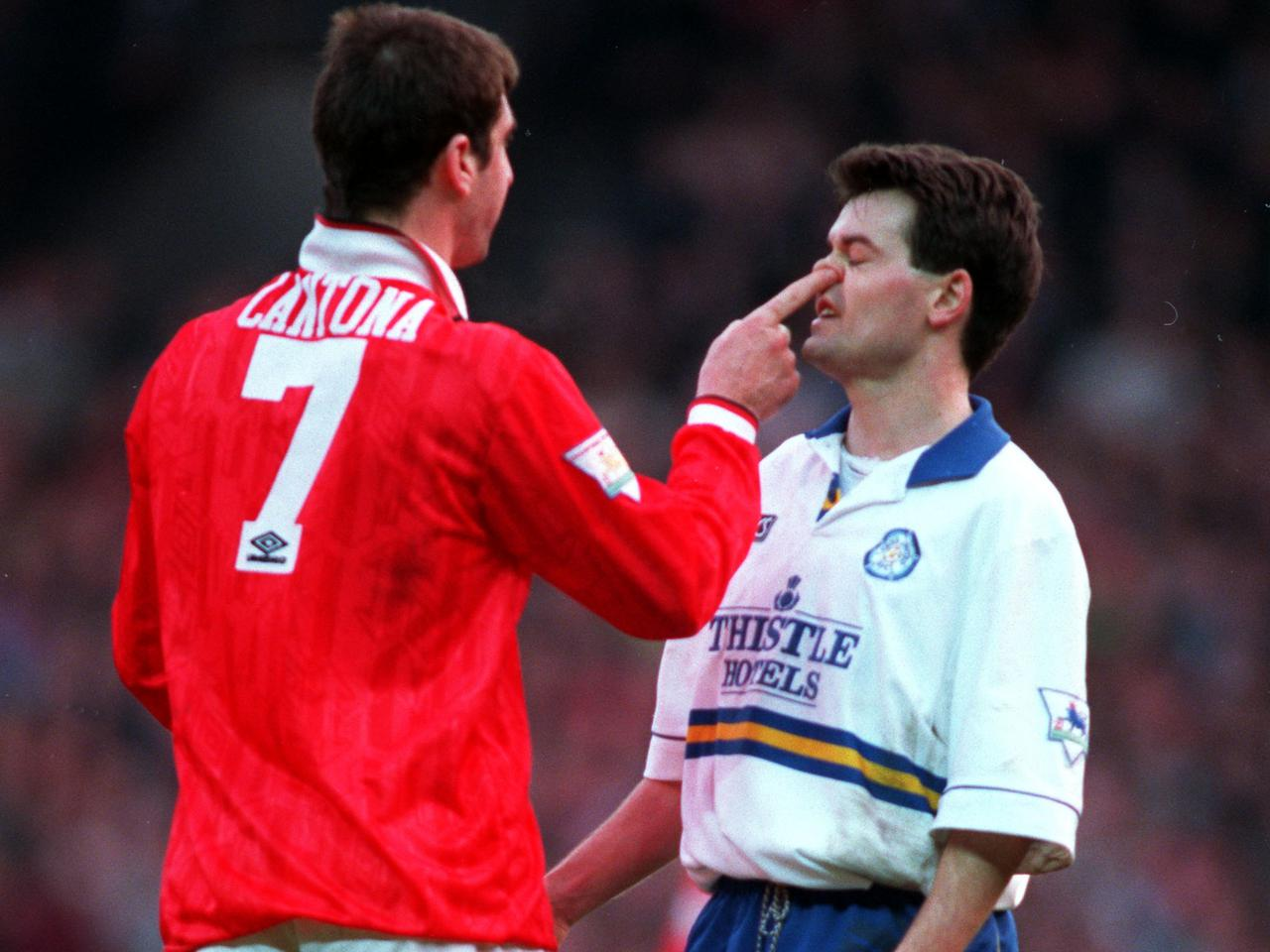 Official eric cantona football shirt. United Review Man Utd V Leeds Rivalry Manchester United