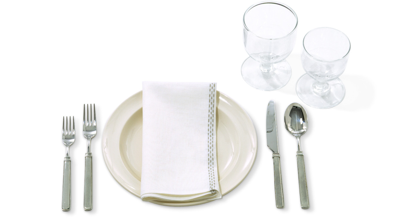 Napkins Placement Silverware And