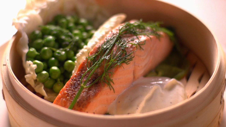 Video Steaming Salmon Martha Stewart