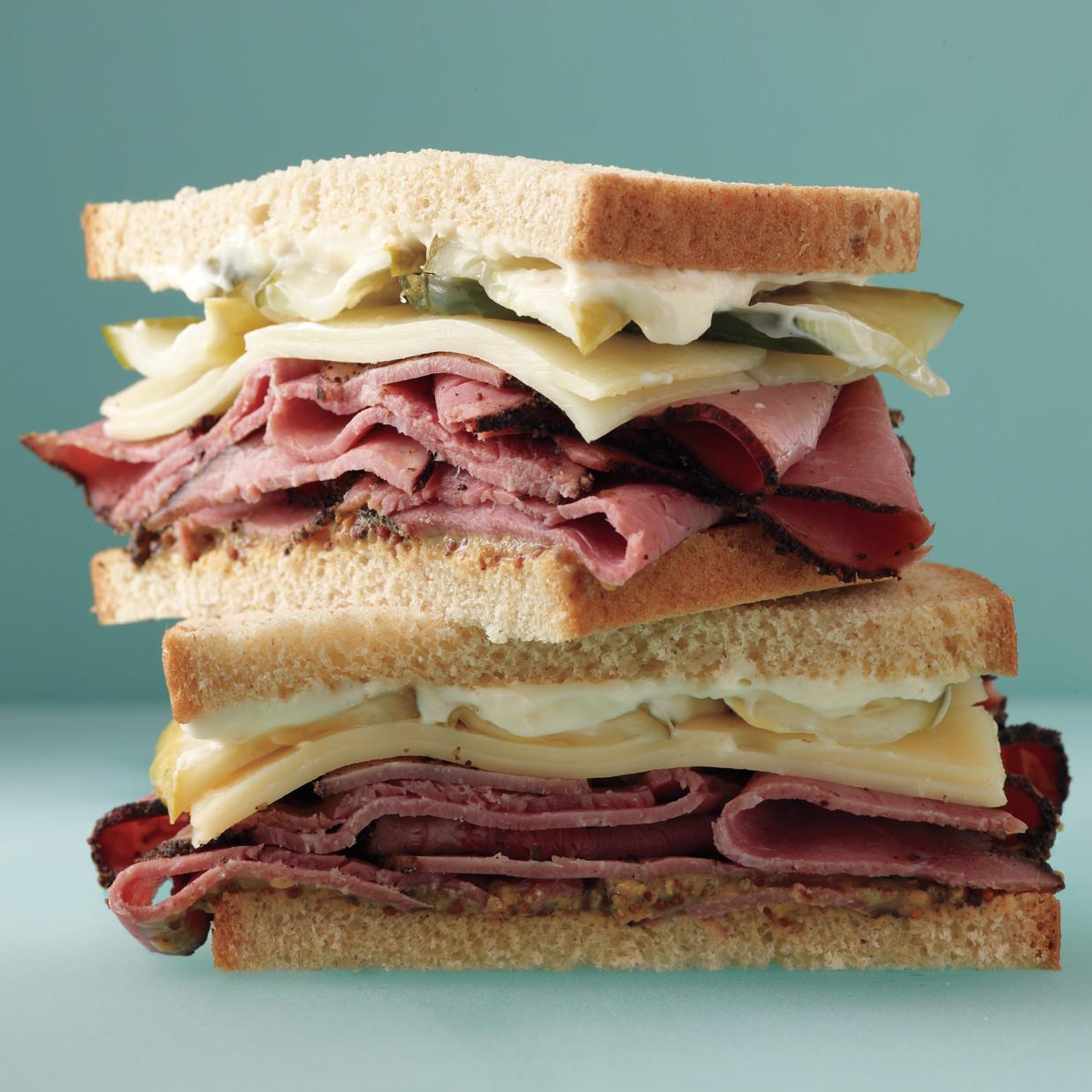Pastrami And Pickle Sandwich Recipe Amp Video Martha Stewart