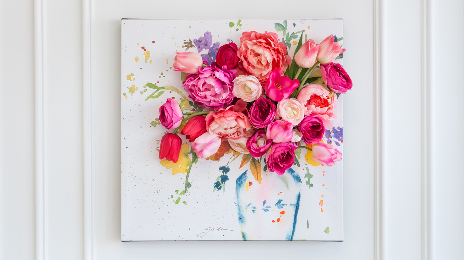 3 D Floral Canvas Wall Art Martha Stewart