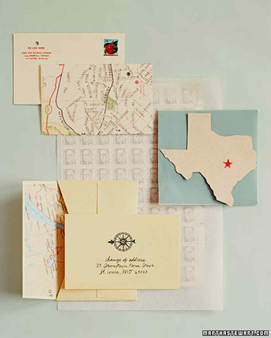 Map Inspired Moving Announcement Martha Stewart
