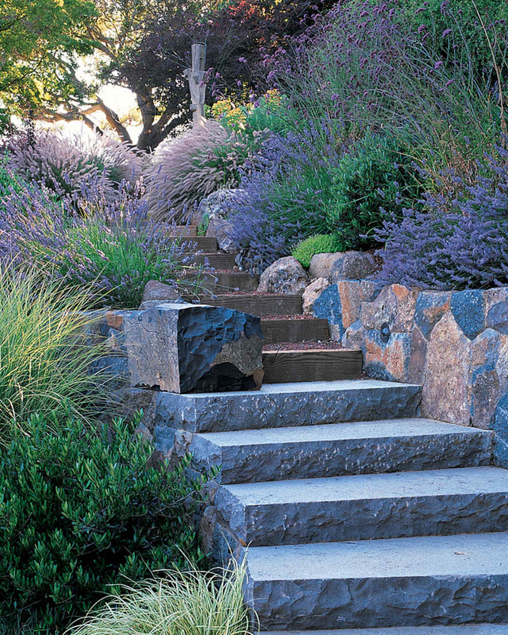 Garden Tour: Hillside Gardening | Martha Stewart on Uphill Backyard Ideas  id=15745