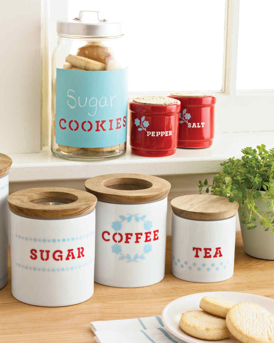 White Kitchen Storage Jars