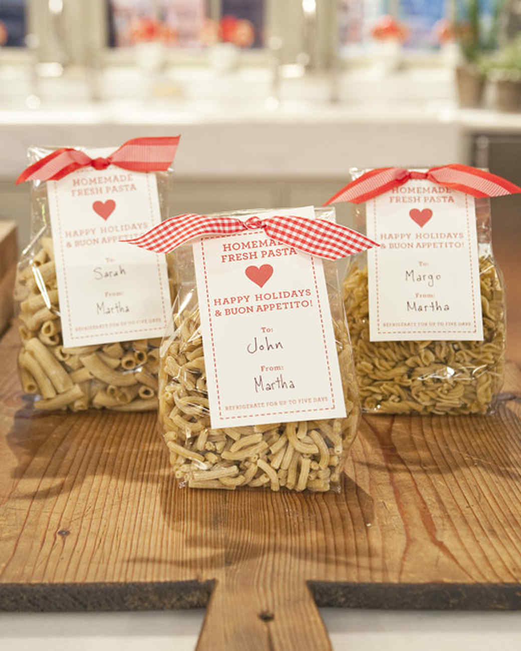 Homemade Pasta Bags Dried